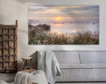 Romantische zonsopkomst met pastelinten van Fotografiecor .nl