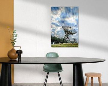 Radiotelescopen Westerbork zonsopkomst van Fotografiecor .nl