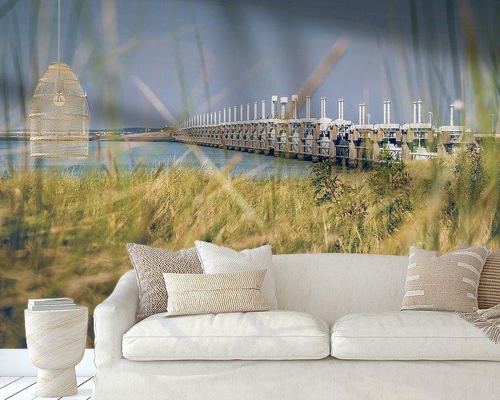 Sfeerimpressie behang: Stormvloedkering van Nederland in Zeeland van Fotografiecor .nl
