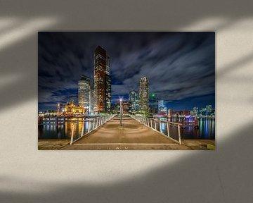 Rotterdam Wilhelminapier en Rijnhavenbrug