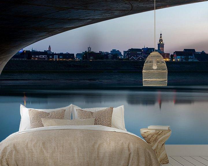 Sfeerimpressie behang: Nijmegen met Stevenskerk van Maerten Prins