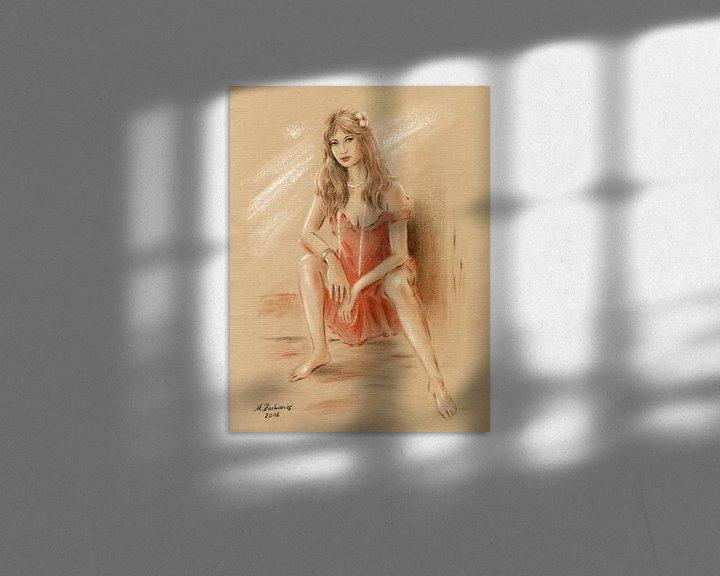 Beispiel: Frau im roten Kleid von Marita Zacharias