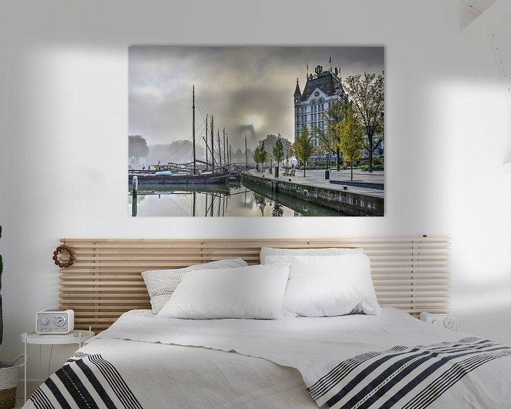 Sfeerimpressie: Mist bij de Oude Haven van Frans Blok