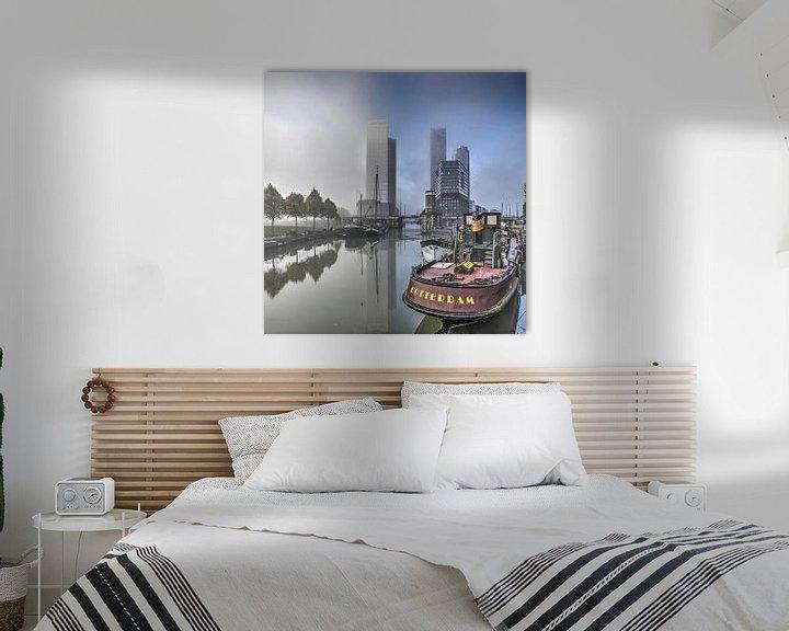 Sfeerimpressie: Rotterdam in de mist van Frans Blok