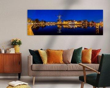 Panorama Molen De Adriaan à Haarlem dans la nuit