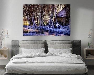 winter landschap  van Niels  de Vries