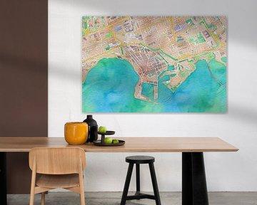 Kleurrijke kaart van Hoorn sur Stef Verdonk