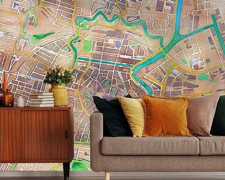 Impression: Kleurrijke kaart van Haarlem sur Stef Verdonk