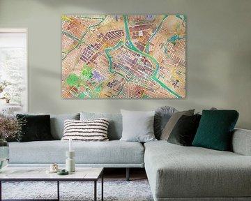 Kleurrijke kaart van Alkmaar