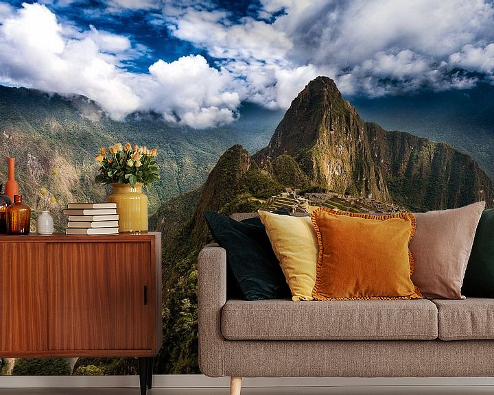 Sfeerimpressie behang: Machu Picchu van Ronne Vinkx