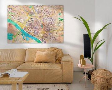 Kleurrijke kaart van Arnhem