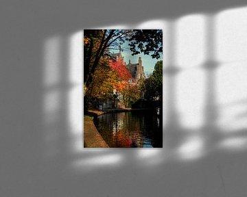 Twijnstraat aan de Oudegracht Utrecht in herfstkleuren (2)