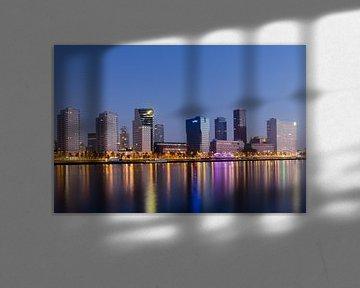 Skyline van Rotterdam 2 van Peter Dane
