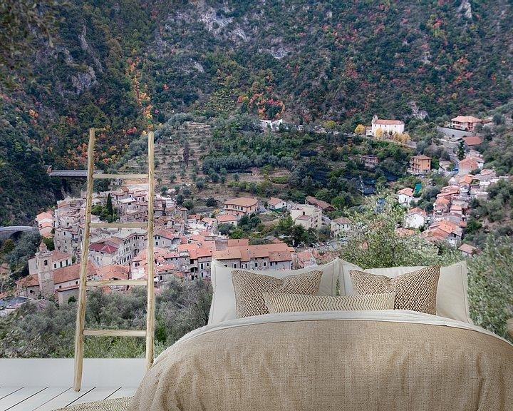 Sfeerimpressie behang: het dorpje Airole (Italië) van Arnoud Kunst