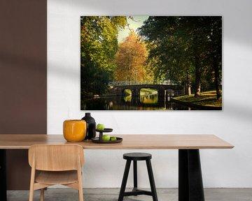De Maliebrug over de Stadsbuitengracht in Utrecht in de herfst