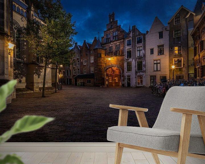 Sfeerimpressie behang: Sint Stevenskerkhof Nijmegen van Mario Visser