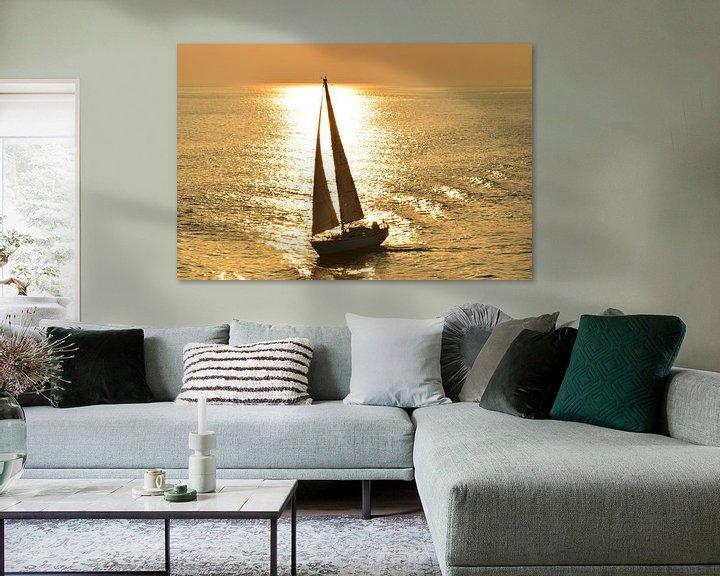 Beispiel: Zeilen op het wad,  bij zonsondergang.  von Marcel Huisman
