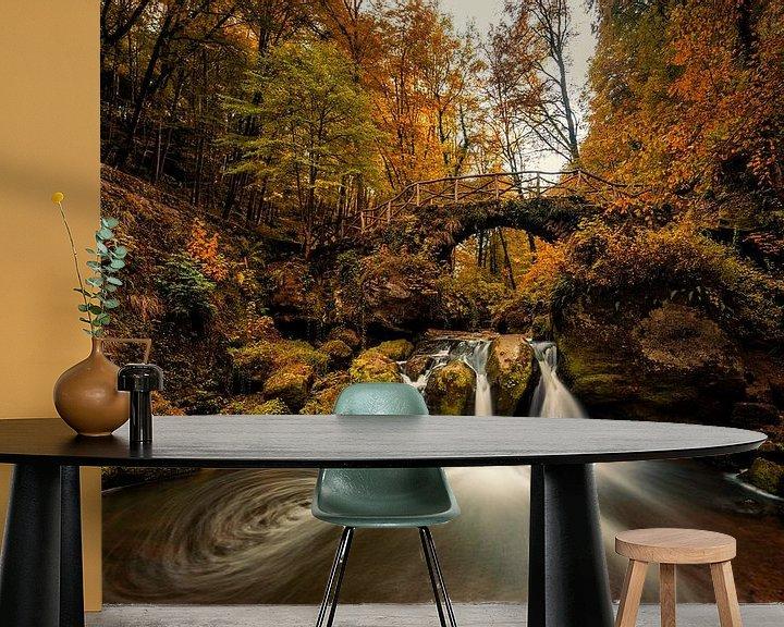 Sfeerimpressie behang: Schiessentumpel watervallen tijdens de herst van Bert Beckers