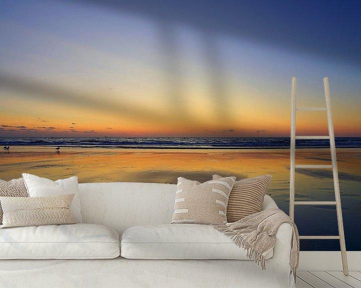 Sfeerimpressie behang: Strand Domburg van 7Horses Photography