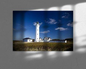 Vuurtoren Hirtshals (Denemarken) van Wijco van Zoelen