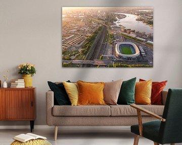 Photo aérienne du stade Feijenoord - De Kuip - Feyenoord sur Prachtig Rotterdam