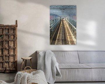 Williamsburg Bridge in New York van Jack Koning
