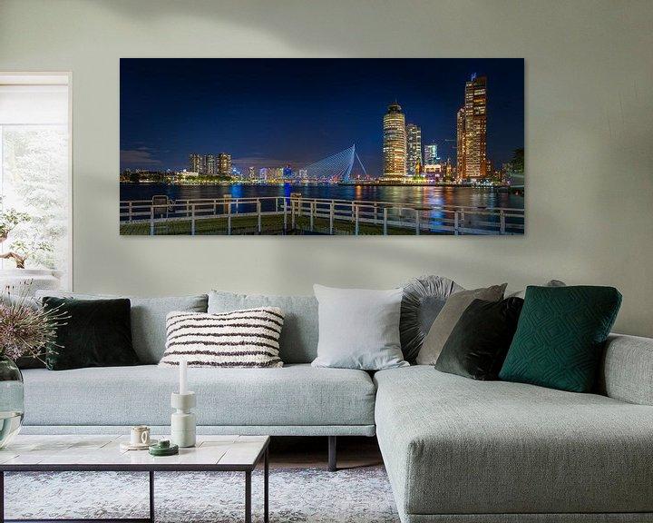 Sfeerimpressie: Rotterdam Wilhelminapier Erasmusbrug Panorama van Evert Buitendijk