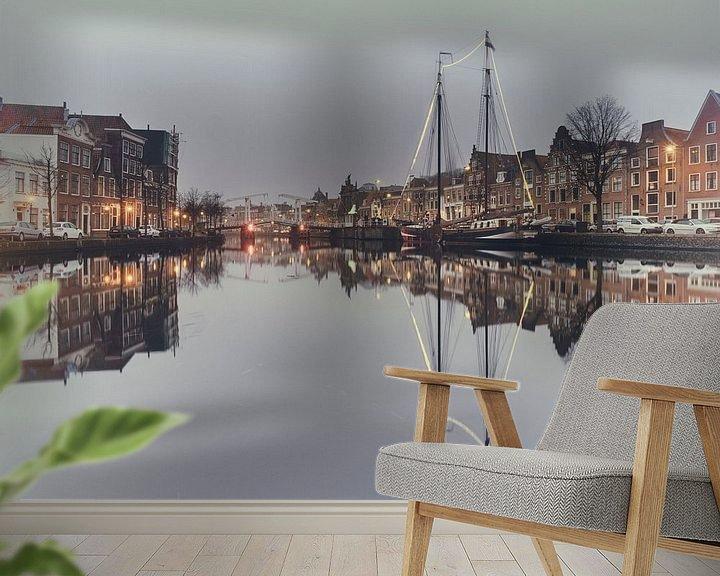 Sfeerimpressie behang: Haarlem: de Pegasus  van Olaf Kramer