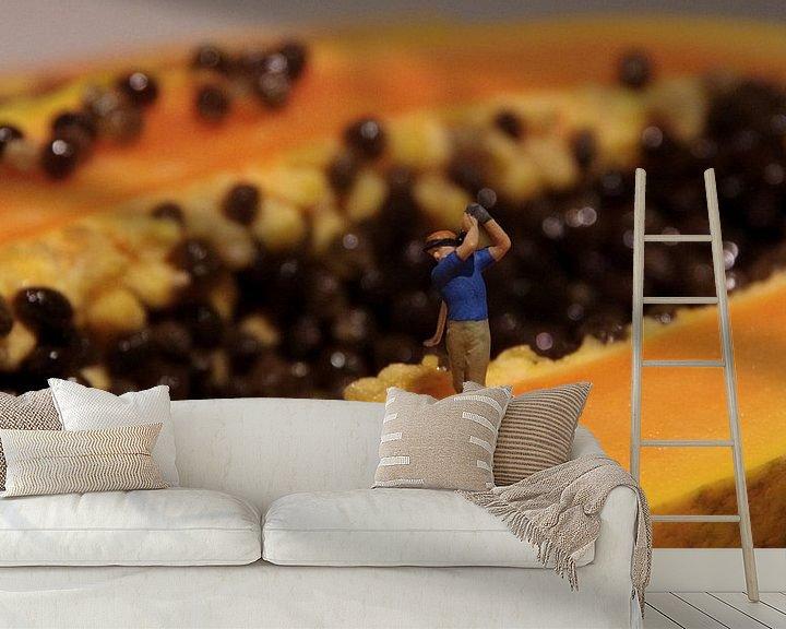 Beispiel fototapete: Papaya Open von Ulrike Schopp