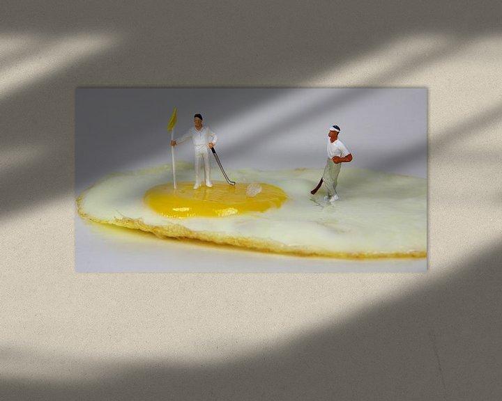 Beispiel: Golfer-Ei von Ulrike Schopp