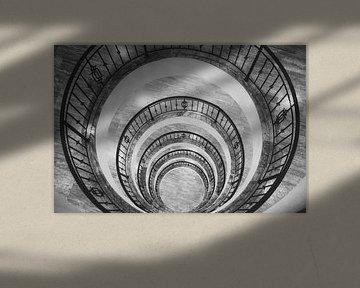 Zwart-wit circels. von Michar Peppenster