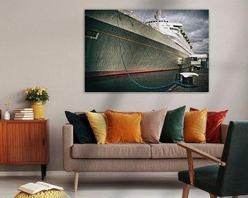 Het schip SS Rotterdam in ruste