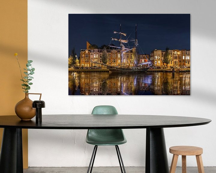 Sfeerimpressie: Avond in Oosterhaven Groningen van Peter Bolman