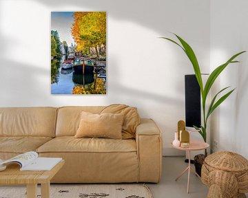 Lijnbaansgracht Amsterdam in de herfst. van Don Fonzarelli