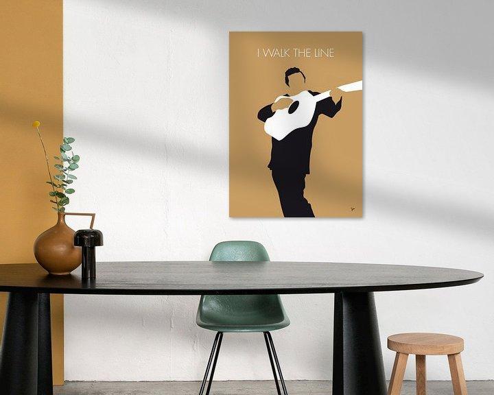 Sfeerimpressie: No010 MY Johnny Cash Minimal Music poster van Chungkong Art