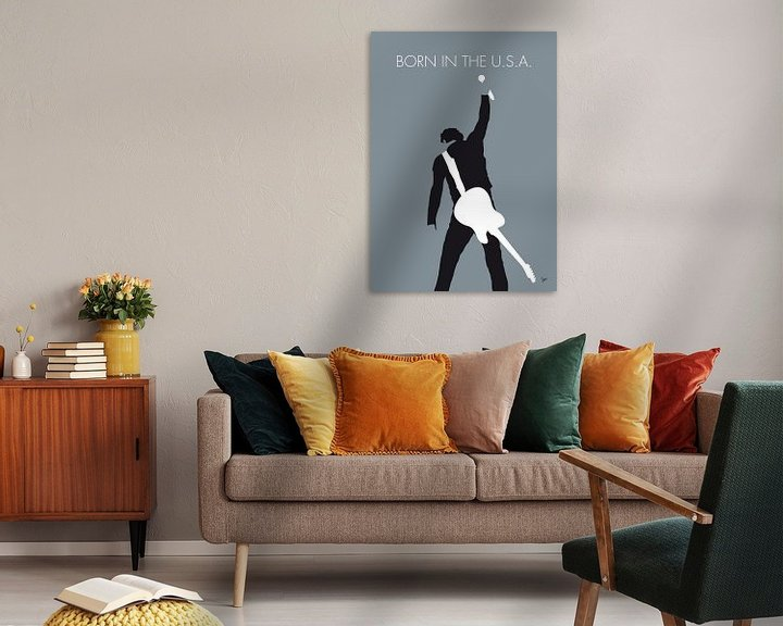 Beispiel: No017 MY Bruce Springsteen Minimal Music poster von Chungkong Art