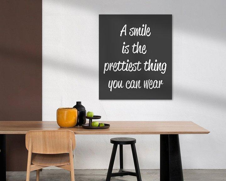 Sfeerimpressie: Smile Canvas van Pim Michels