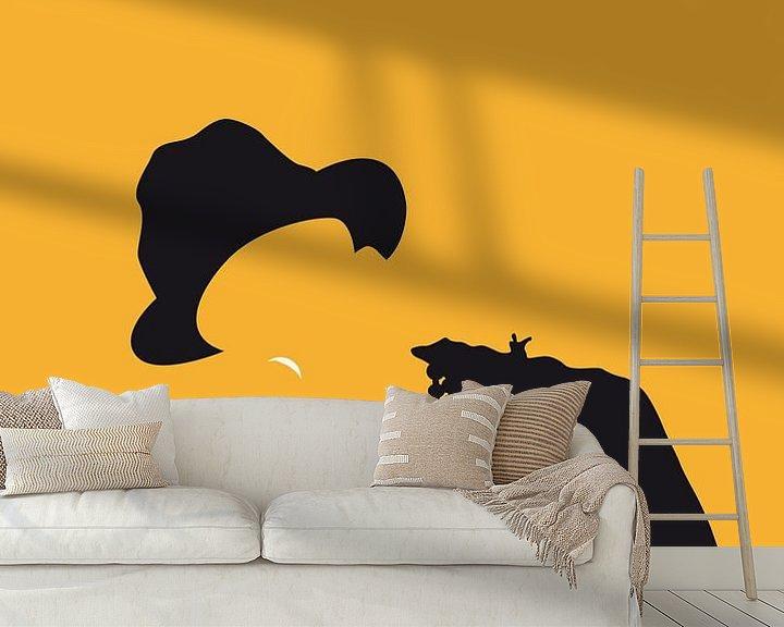 Sfeerimpressie behang: No034 MY Pharrell Williams Minimal Music poster van Chungkong Art