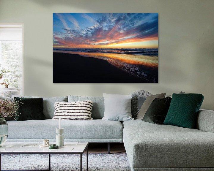 Sfeerimpressie: Net na zonsondergang - Texel - Nederland van Jeroen(JAC) de Jong