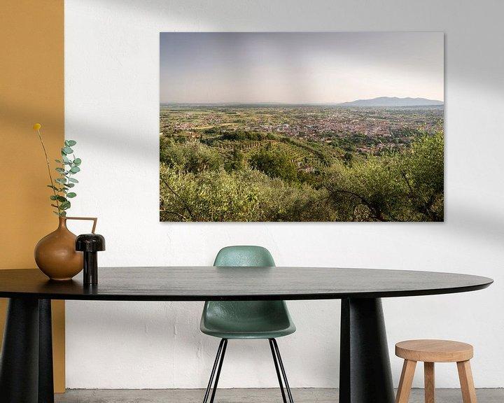 Sfeerimpressie: Uitzicht op Montecatini Terme in Toscane van Christian Reijnoudt