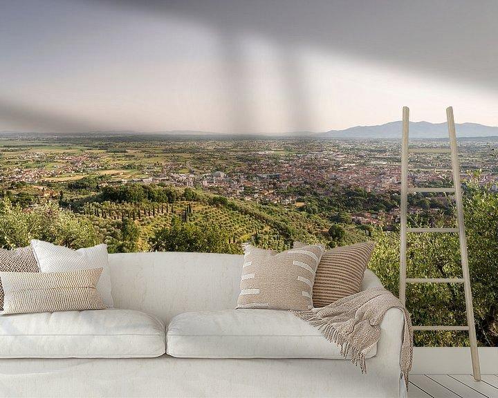 Sfeerimpressie behang: Uitzicht op Montecatini Terme in Toscane van Christian Reijnoudt