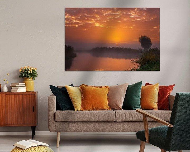 Sfeerimpressie: Sun vs Mist I van Sander Peters Fotografie