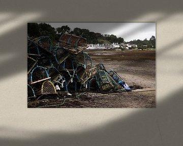 Kreeftenfuiken in de haven van Plockton von Stephan van Krimpen