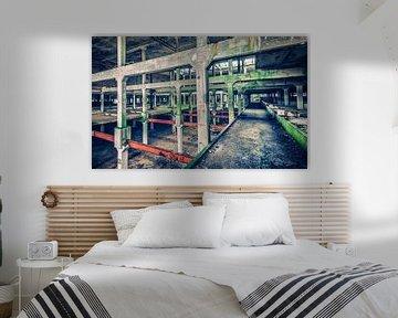 Urban vervallen gebouw von Martijn van Dellen