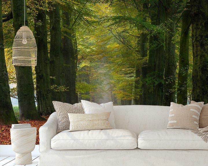 Sfeerimpressie behang: Autumn's Way van William Mevissen