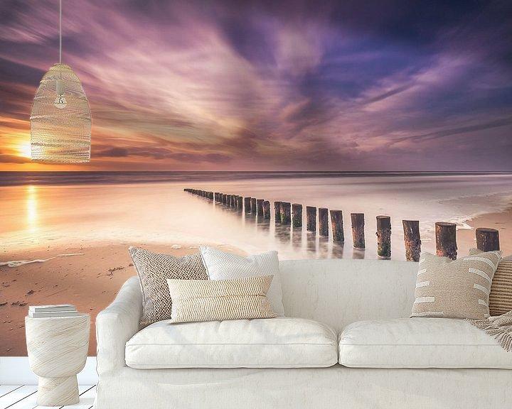 Sfeerimpressie behang: Long exposure at the beach van Niels Barto