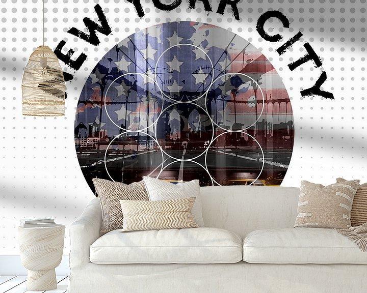 Beispiel fototapete: Graphic Art NEW YORK CITY Urbane Impressionen  von Melanie Viola