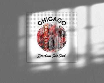 Graphic Art CHICAGO Downtown State Street van Melanie Viola