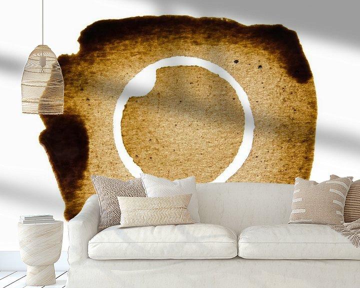 Sfeerimpressie behang: The inverse Coffee stain van Ricardo Bouman