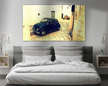 Italë - Puglia - Fiat 500 en Ape in de oude binnenstad van Martina Franca  van Robert-Jan van Lotringen